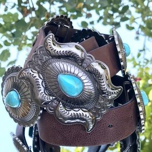 Lucky and blessed (L&B) concho leather belt